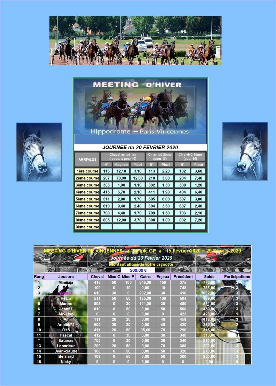 Résultats du Jeudi 20/02/2020  2002_211