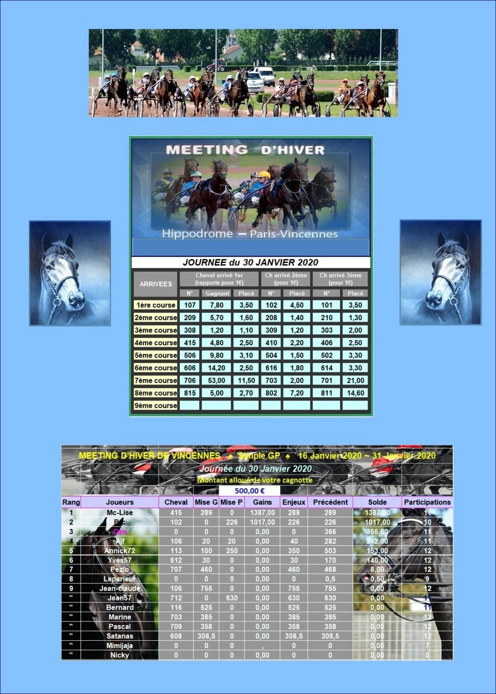 Résultats du Jeudi 30/01/2020 - CLT FINALE 2ème QUINZ.01 3001_211