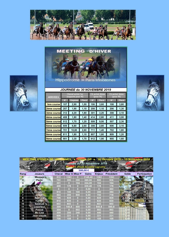 Résultats du 30/11/2019 - CLT FINAL 2ème QUINZAINE/11 3011_212
