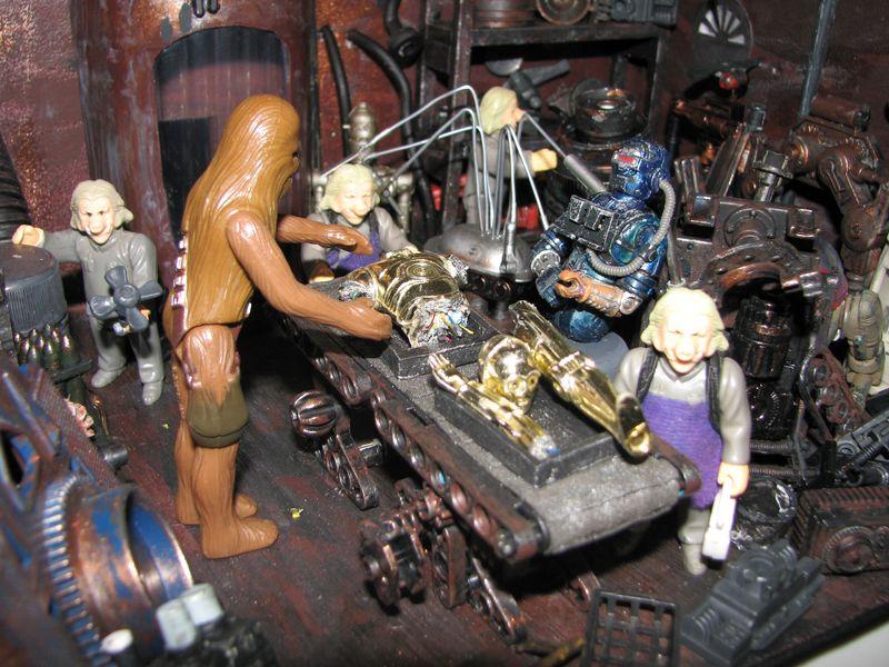"Making of diorama ""La fonderie de Bespin"" star wars vintage Img_1911"
