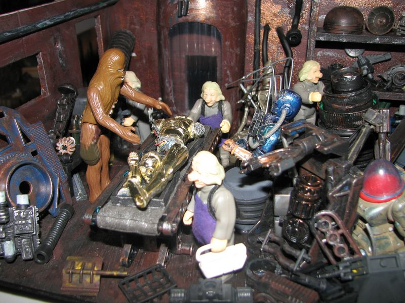 "Making of diorama ""La fonderie de Bespin"" star wars vintage Img_1912"