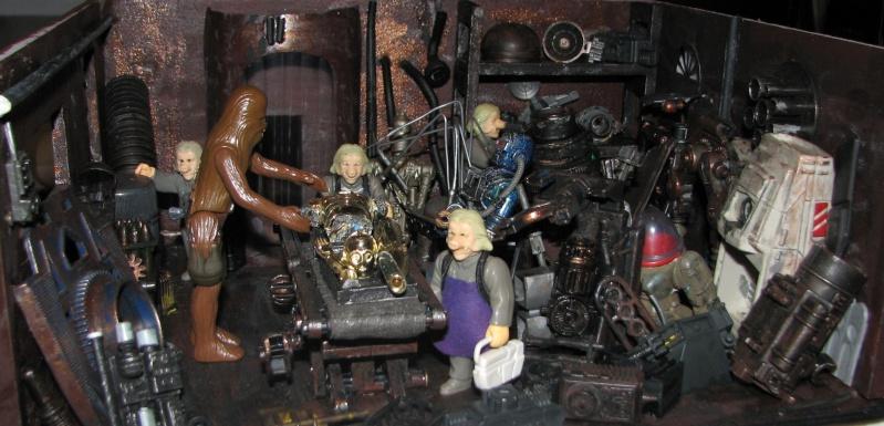 "Making of diorama ""La fonderie de Bespin"" star wars vintage Img_1913"