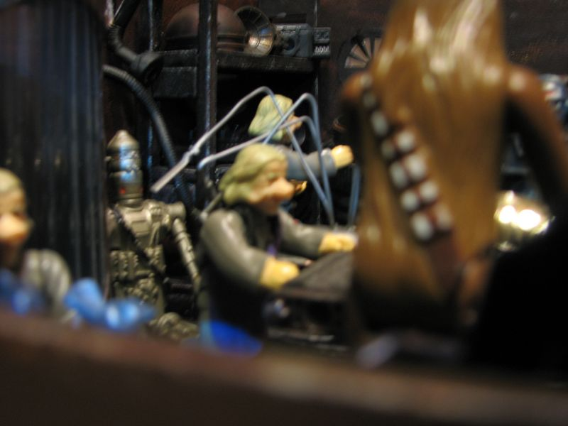 "Making of diorama ""La fonderie de Bespin"" star wars vintage Img_1914"