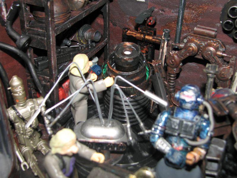 "Making of diorama ""La fonderie de Bespin"" star wars vintage Img_1915"