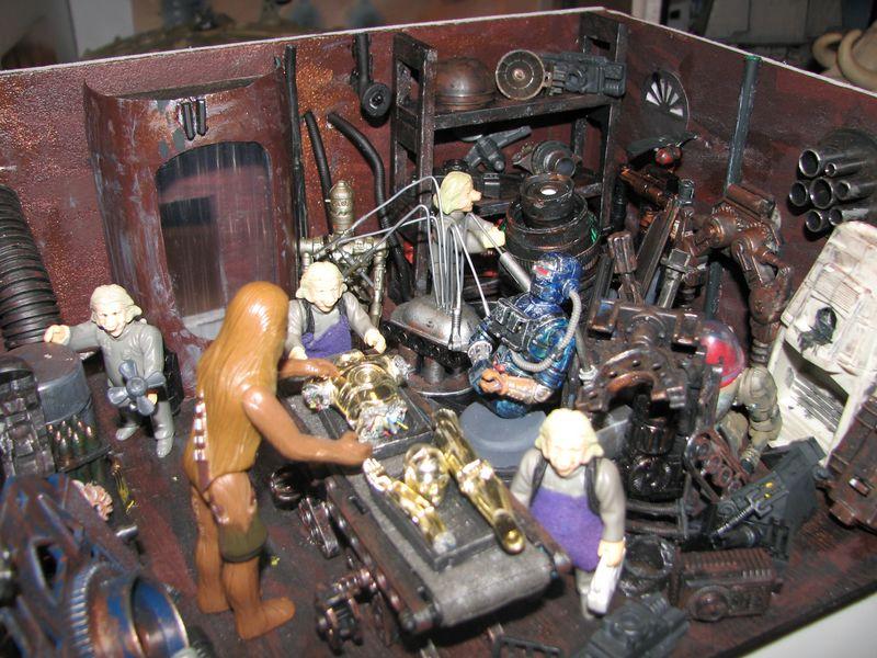 "Making of diorama ""La fonderie de Bespin"" star wars vintage Img_1916"