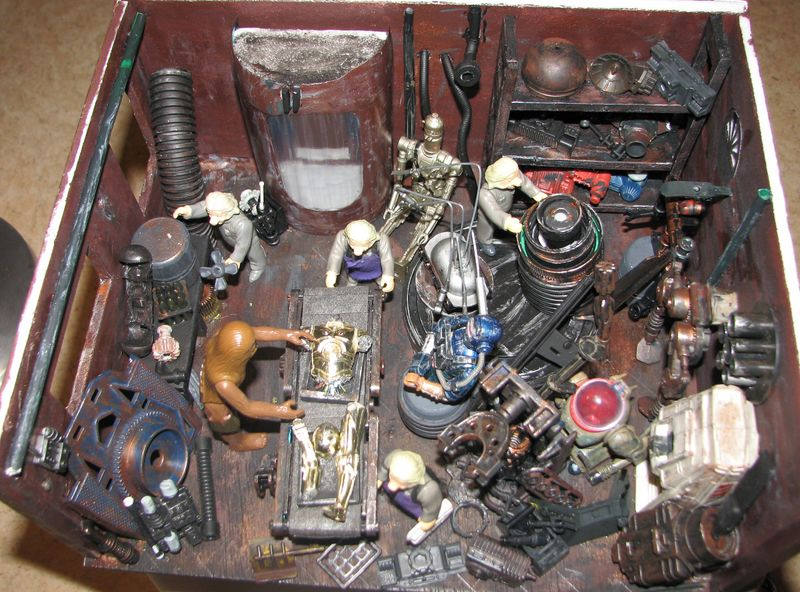 "Making of diorama ""La fonderie de Bespin"" star wars vintage Img_2010"