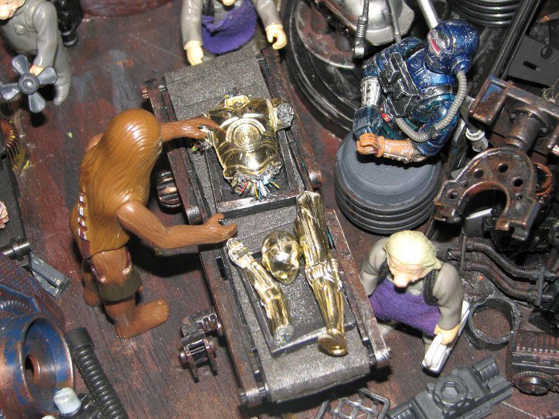 "Making of diorama ""La fonderie de Bespin"" star wars vintage Img_2011"
