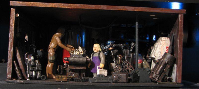 "Making of diorama ""La fonderie de Bespin"" star wars vintage Img_2012"