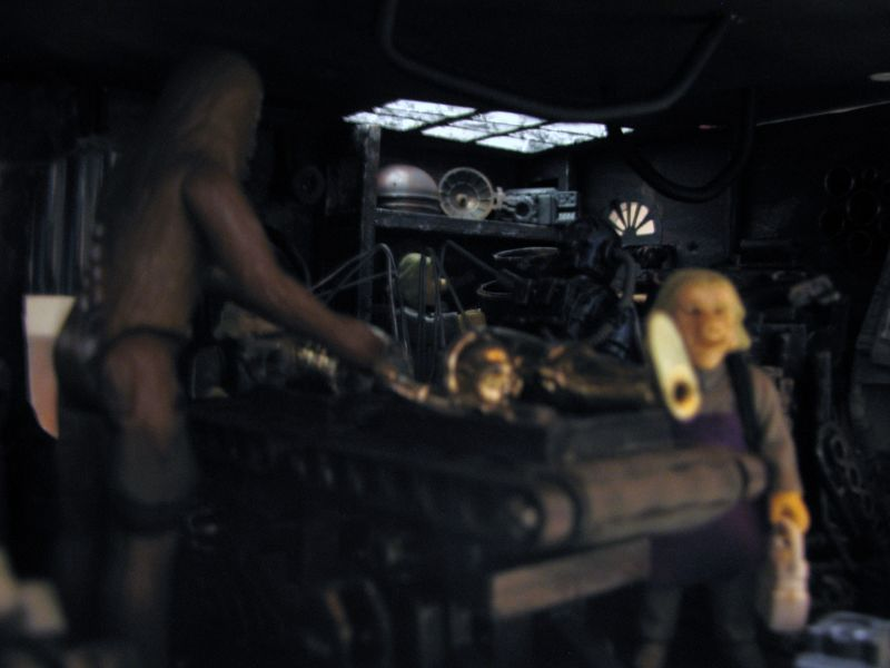 "Making of diorama ""La fonderie de Bespin"" star wars vintage Img_2013"
