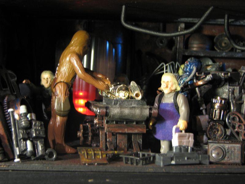 "Making of diorama ""La fonderie de Bespin"" star wars vintage Img_2014"