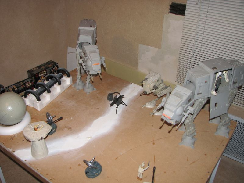 "Making of Diorama ""Hoth battle"". Star wars vintage empire contre attaque. Img_2210"