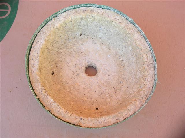 """""""Papercrete pots"""" Pot_da10"""