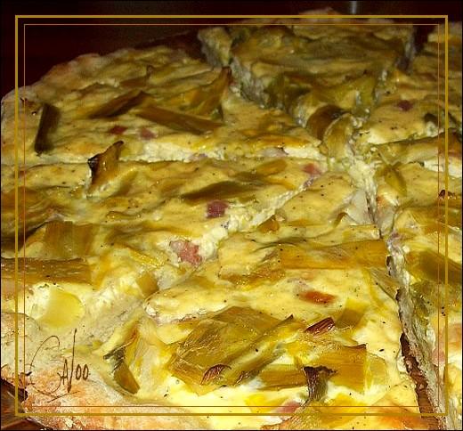 Tarte aux poireaux et lardons Quiche10