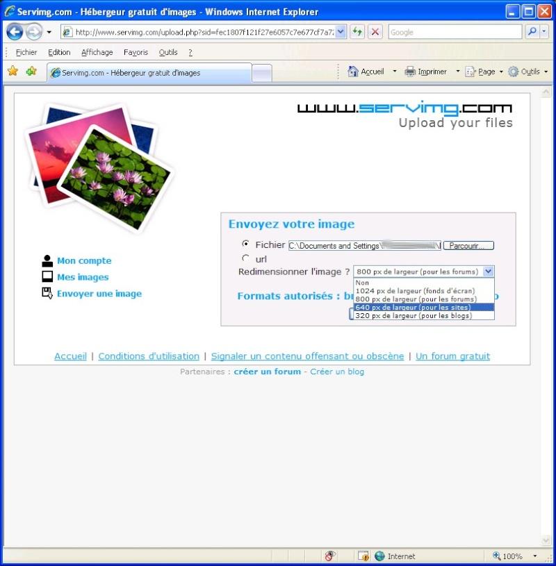 Comment inserer une image sur le forum avec SERVIMG.COM 0210