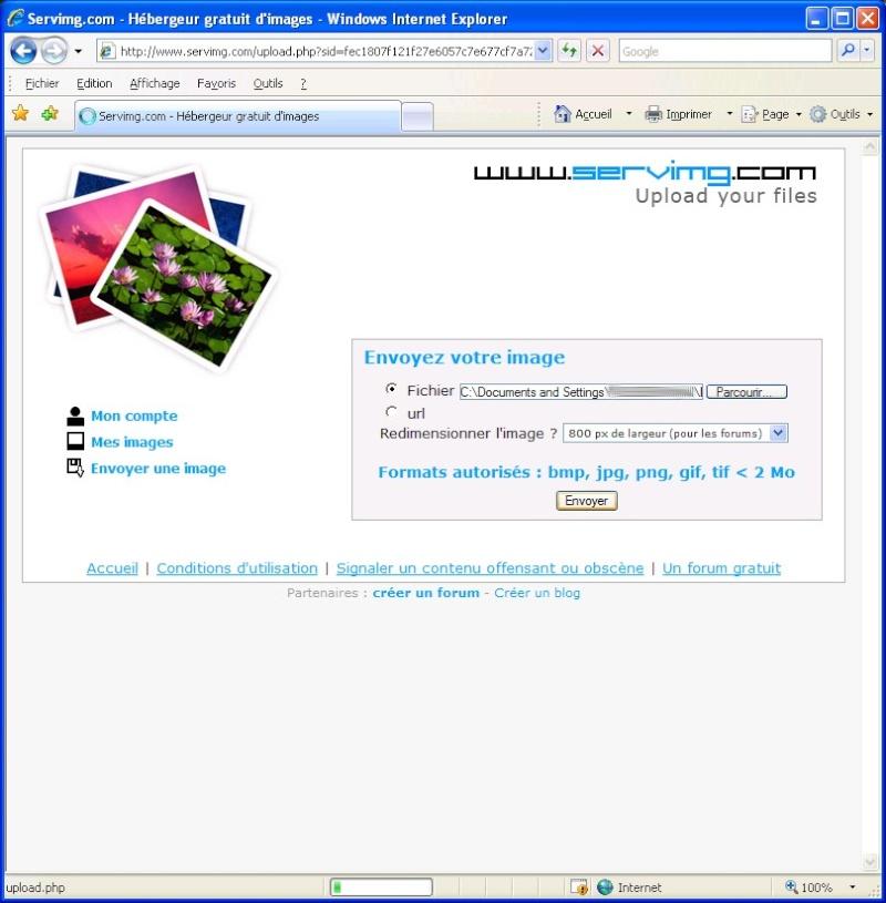 Comment inserer une image sur le forum avec SERVIMG.COM 0310
