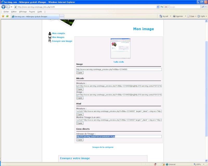 Comment inserer une image sur le forum avec SERVIMG.COM 0410
