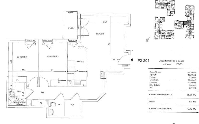 Conseil peinture/aménagement Salon/cuisine ouverte F2-20110