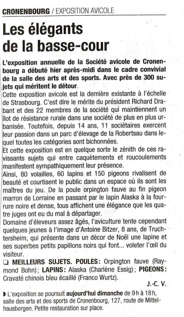 Grand Prix d' aviculture :Bravo Raymond! Image018