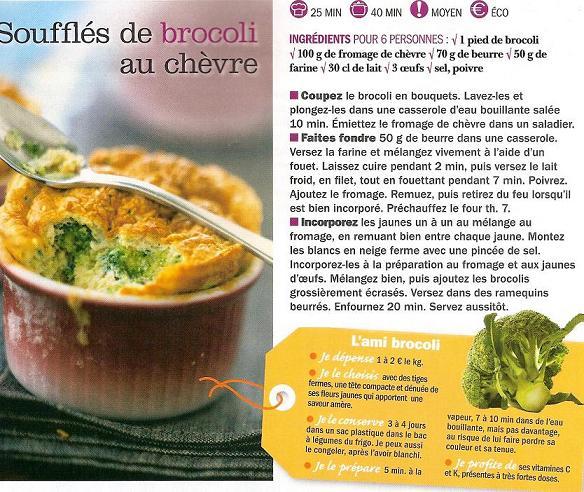Soufflés de brocoli au chèvre Souffl11
