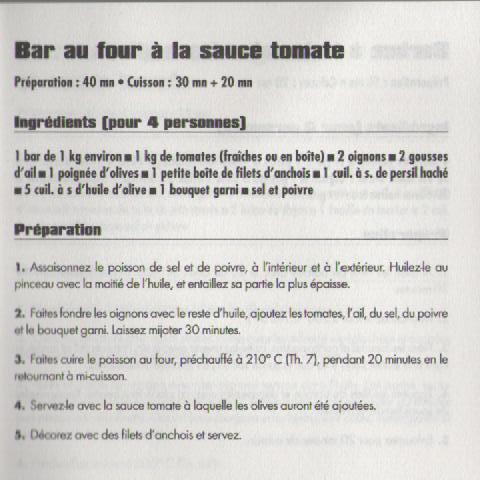 Bar au four à la sauce tomate Tomate11