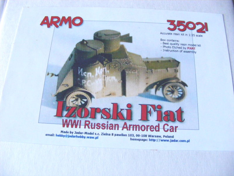 Armstrong-Whitworth- Fiat (Izorski) Russian armored Car WW I Boite11