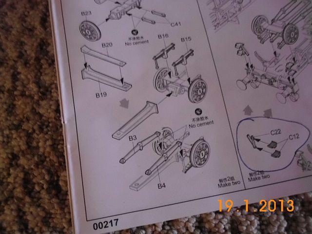 Teil B15/B16 Trumpeter BR86 218