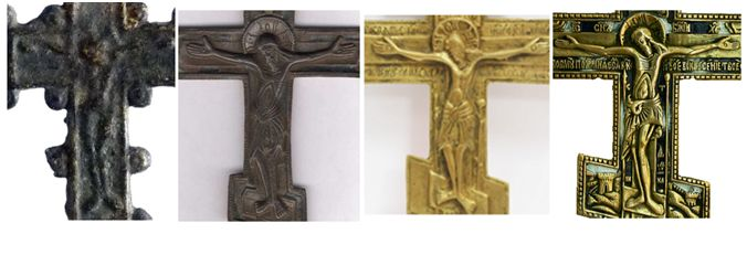 Cruz con pezuelos Ortodo10