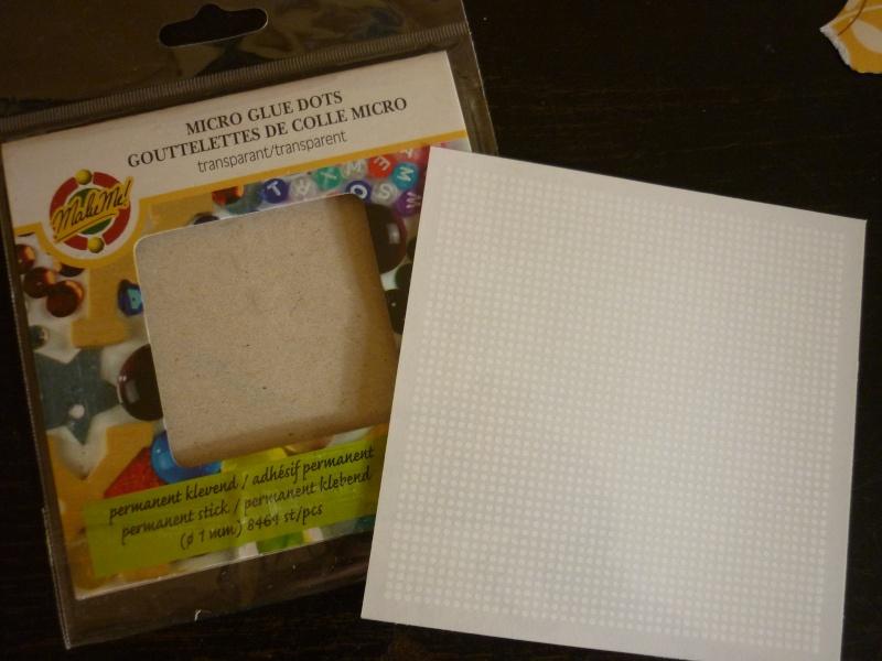 utilisation des glue dots -  par Charlotte P1110333