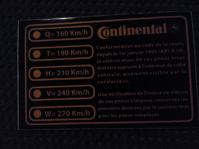 Indice de vitesse Photo710