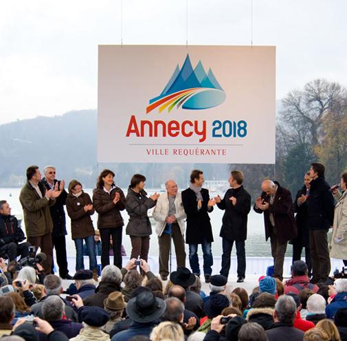 Nouveau logo pour la Candidature d'Annecy 2018 aux Jeux Olympiques et Paralympiques d'hiver Grande10