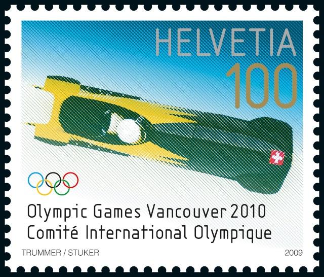 Timbres Suisse - Jeux Olympiques d'Hiver Vancouver 2010 Post-b10