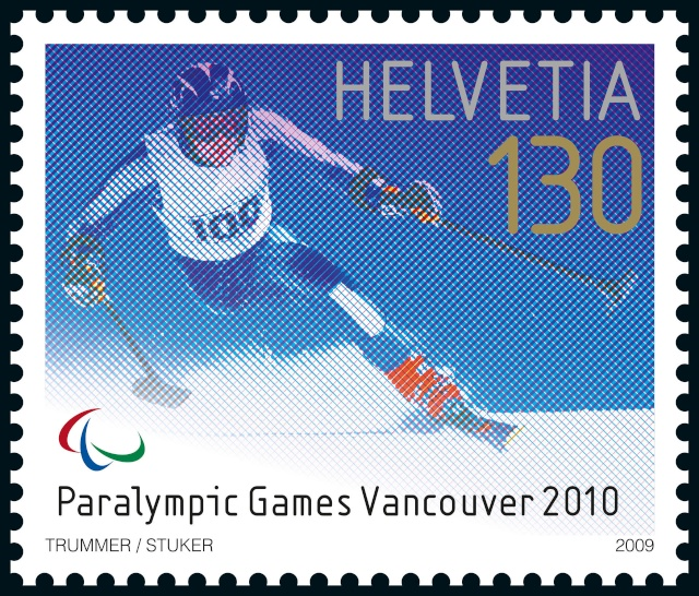 Timbres Suisse - Jeux Olympiques d'Hiver Vancouver 2010 Post-b11