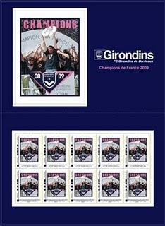 Timbre France - Girondin de Bordeaux (Football) - Emission 2009 Timbre10