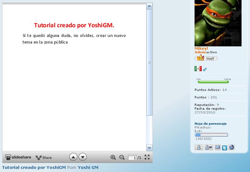 [Tutorial] Mostrar archivos PPS - PDF - DOC... en tu foro Slides19