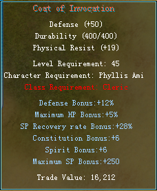 Equipment changes Cleric11