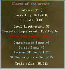 Equipment changes Cleric14