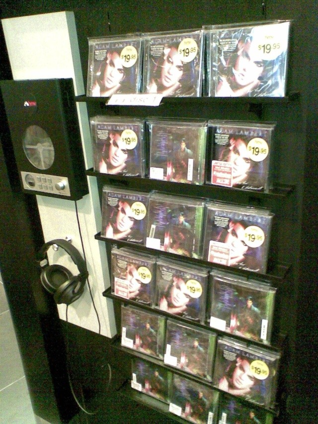 Adam's 'For Your Entertainment' CD Displays in Singapore 08012017