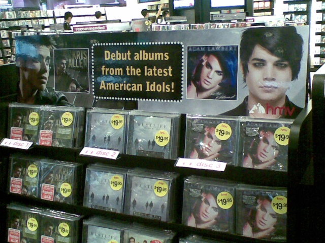 Adam's 'For Your Entertainment' CD Displays in Singapore 08012018