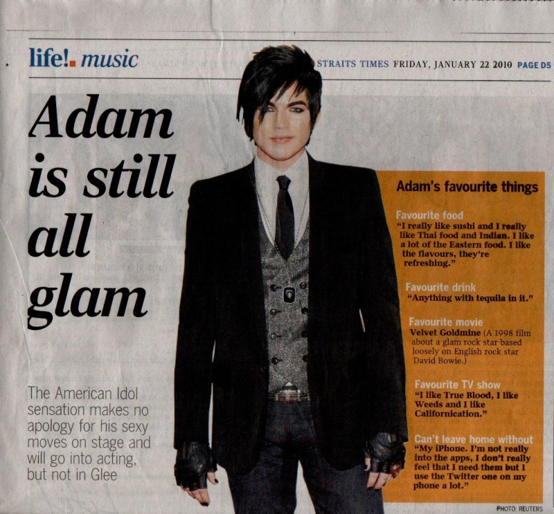 Adam Lambert featured in The Straits Times (22/01/2010)!! All_gl10