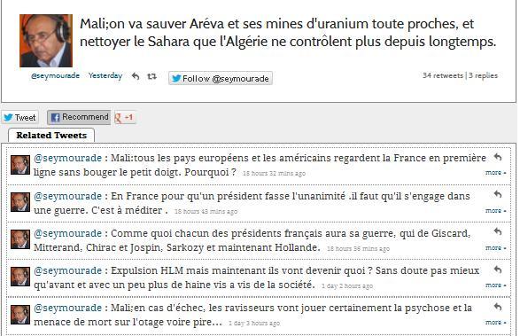 L'intervention militaire française au Mali vise-t-elle à assurer les intérêts d'Areva ? 110