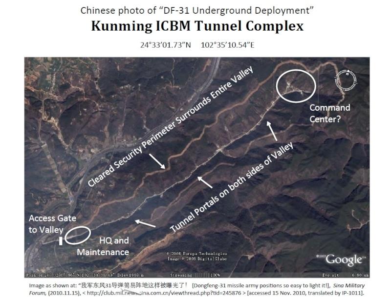 pour - Une grande muraille souterraine pour ranger des armes nucléaires en Chine ? 138