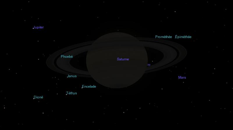 Vue spectaculaire des anneaux de Saturne par Cassini Captur10