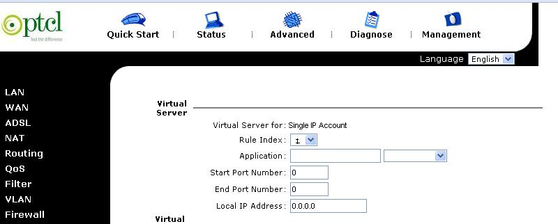 Port Forwarding of GGPO and 2DF (ZXDSL 831CII) 810