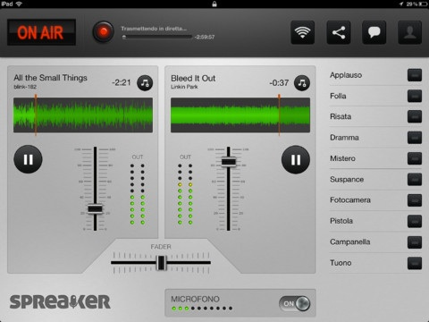 Spreaker dj per ipad Image11