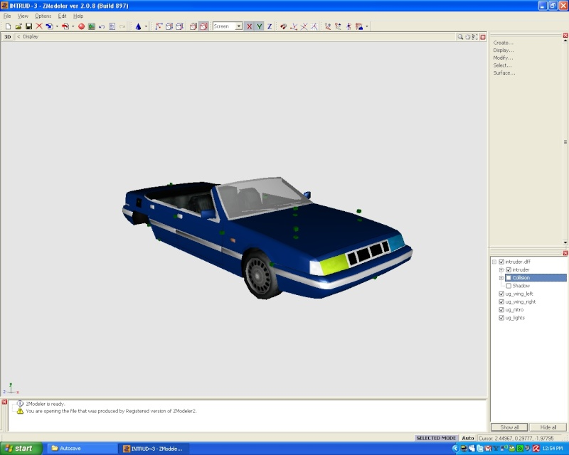 My first car mod :P Intrud10