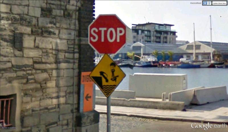 Panneau de signalisation Dublin Irlande Stop10