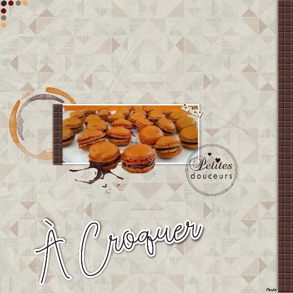 Pages réalisées avec le kit chocolat Chocol10