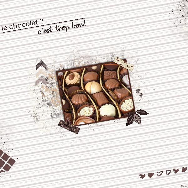 Pages réalisées avec le kit chocolat Chocol11