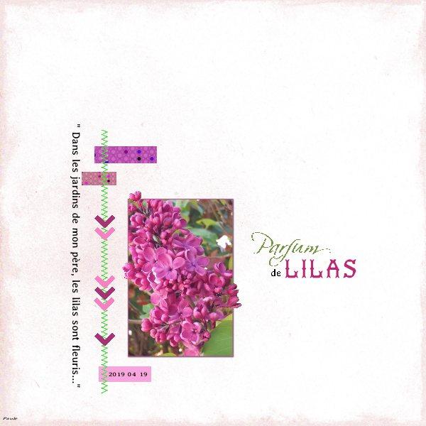 Pages réalisées avec les templates d'avril 2019 Lilas_10