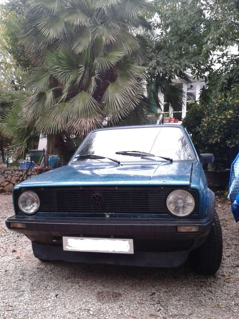 ma nouvelle 1800 mk1 gti golf     what else